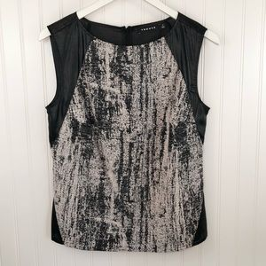 Trouve' Women's Mixed Material Sleeveless Top M